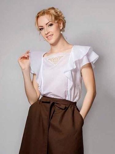 Блуза с кружевом - фото 21922