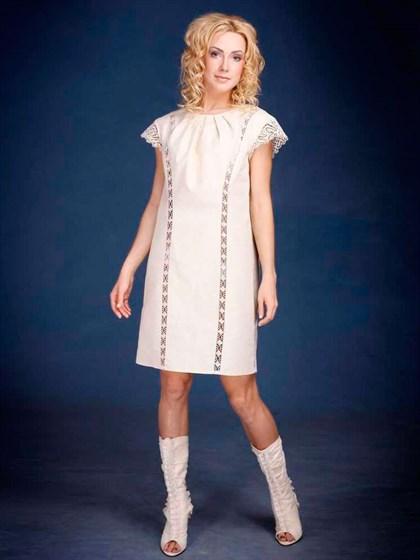 Платье льняное - фото 21936