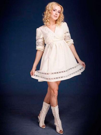 Платье изо льна - фото 21949
