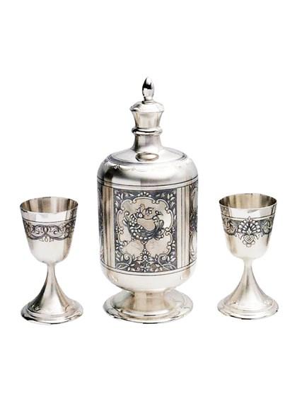 Винный набор из серебра - фото 22011