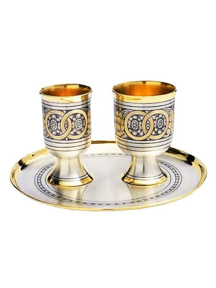 Винный свадебный набор из серебра - фото 22019