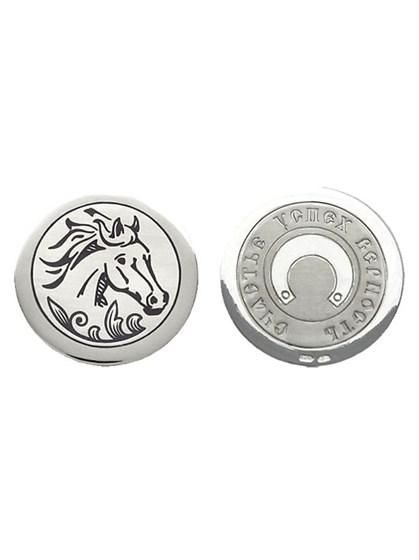 """Монета сувенирная """"Год лошади"""" из серебра - фото 22033"""