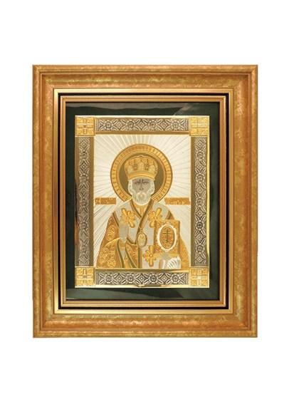Икона серебряная Николай Чудотворец - фото 22115