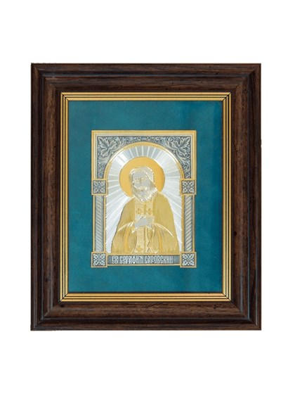 Икона серебряная Серафим Саровский - фото 22121