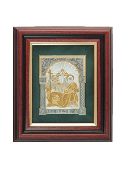 Икона серебряная Святая Троица Новозаветная - фото 22143