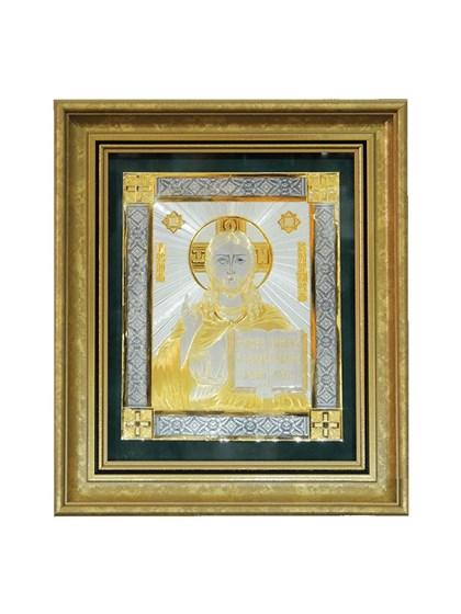 Икона серебряная Господь Вседержитель - фото 22162