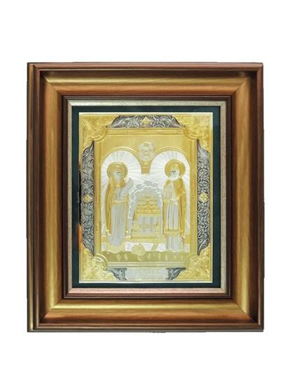 Икона серебряная Святые Петр и Февронья - фото 22165