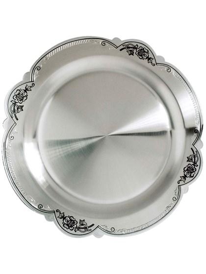 Тарелка десертная серебряная - фото 22192