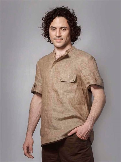 Рубашка изо льна - фото 22326