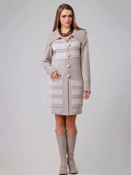 Пальто из льна - фото 22373