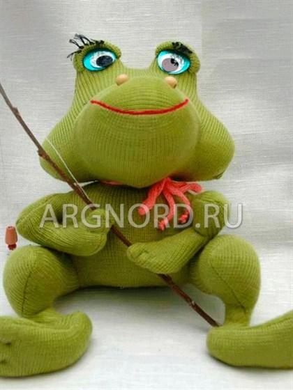 """Игрушка из льна """"Лягушонок"""" - фото 22411"""