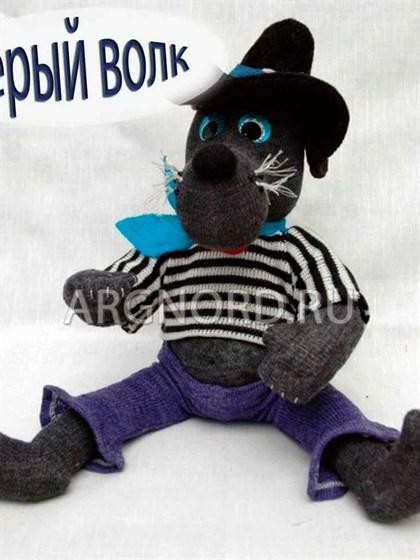 """Льняная игрушка """"Серый Волк"""" - фото 22443"""