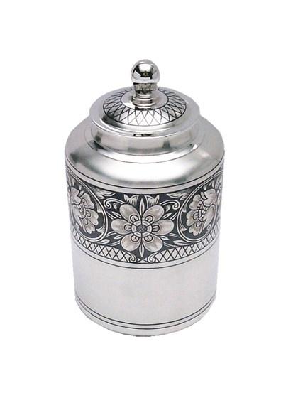 Чайница серебряная - фото 22676