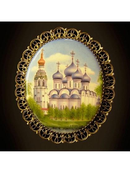 Панно финифть виды Вологды - фото 22690