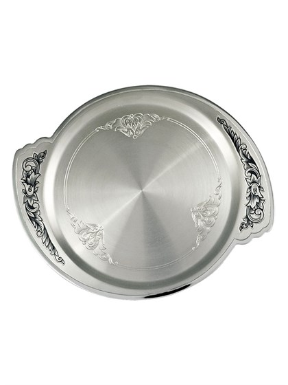 Тарелка серебряная - фото 22722