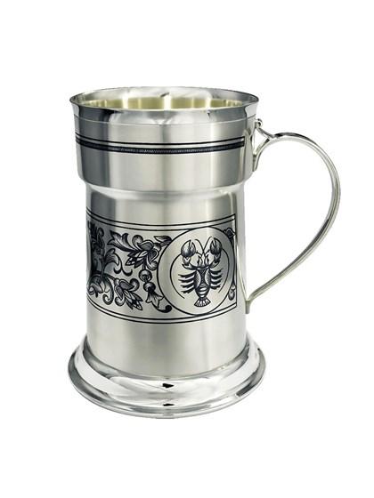 Кружка серебряная для пива - фото 22723