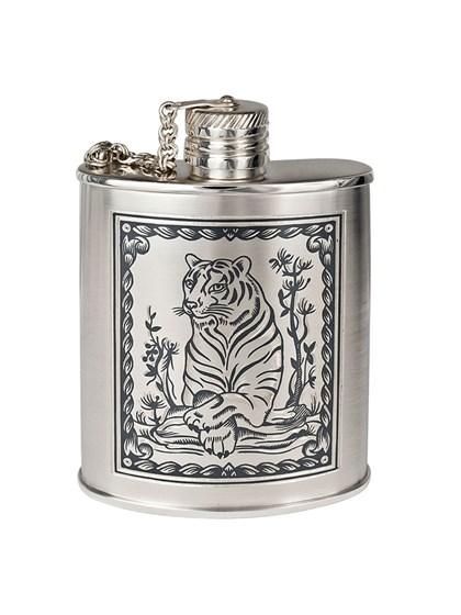 """Фляжка серебряная """"Год тигра"""" - фото 22732"""