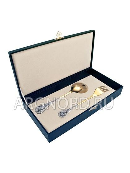 Детский столовый серебряный набор - фото 22750