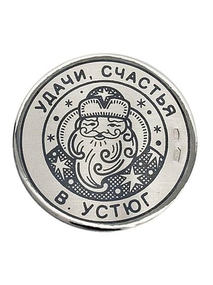 """Сувенир-магнит из серебра """"Дед Мороз"""" - фото 22772"""
