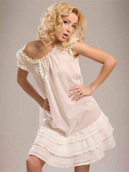 Платье - туника с кружевом - фото 22791