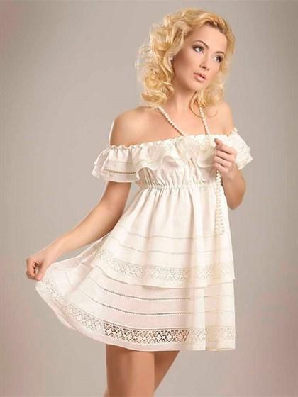 Платье с кружевом - фото 22798
