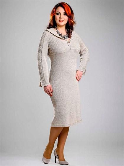 Платье из льна с полушерстью - фото 22819