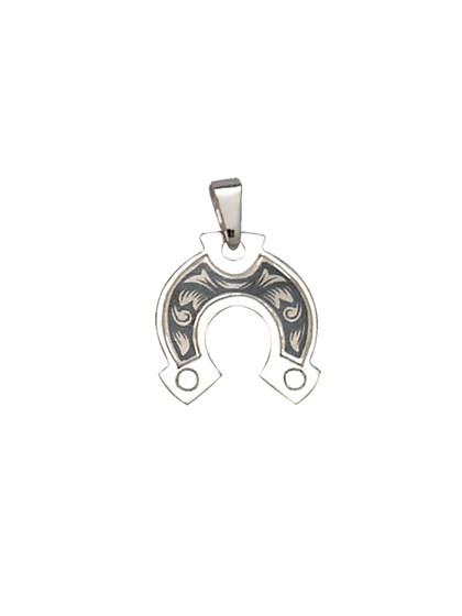 Подвеска серебряная в форме подковы - фото 22887