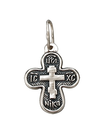 Подвеска-крест из серебра - фото 23002