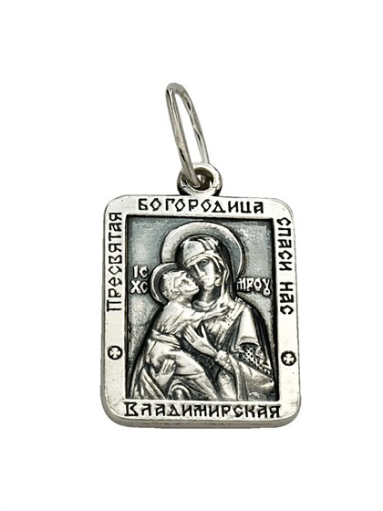 """Серебряная подвеска """"Владимирская"""" - фото 23009"""