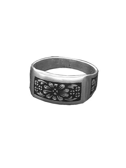 Кольцо серебряное с чернением - фото 23024