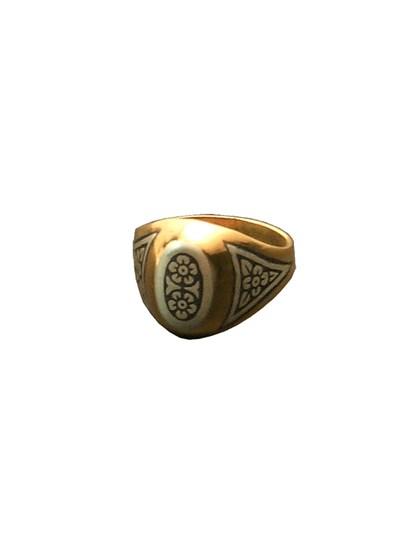 Серебряное кольцо позолоченное - фото 23026