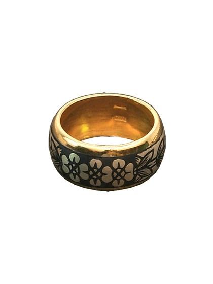 Кольцо серебряное с чернением - фото 23030