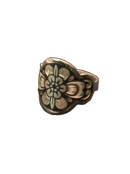 Кольцо из серебра  чернением - фото 23032