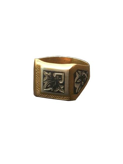 Серебряное кольцо с узором - фото 23041