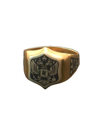 Кольцо-печатка серебряное - фото 23054