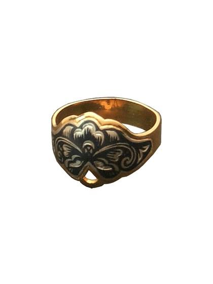 Изящное серебряное кольцо - фото 23056
