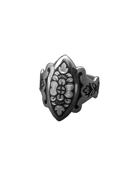 Кольцо из серебра с чернью - фото 23057
