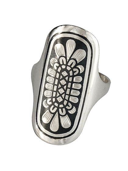 Кольцо из серебра с чернением - фото 23074