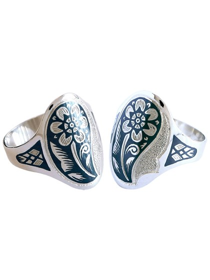 "Серебряное кольцо ""Букет"" - фото 23102"