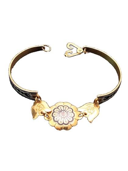 Серебряный браслет позолоченный - фото 23115