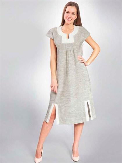 Платье льняное - фото 23124