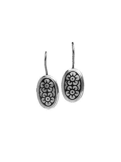 Серебряные серьги - фото 23147
