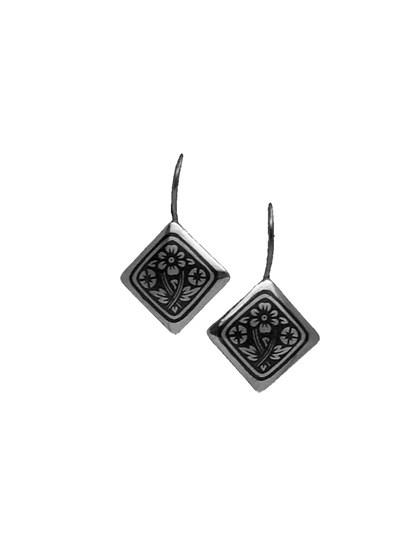 Серьги из серебра с чернением - фото 23159