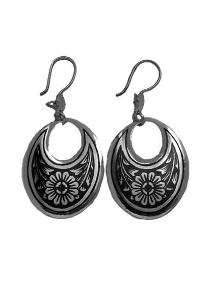 Серебряные серьги - фото 23167
