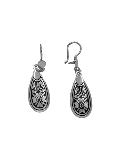 Серебряные серьги с чернением - фото 23198