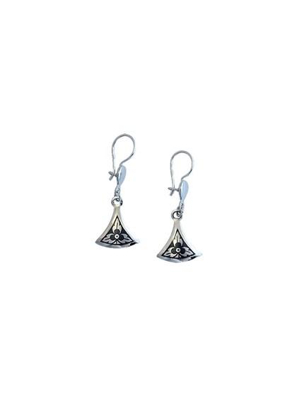 Серьги из серебра с чернью - фото 23208