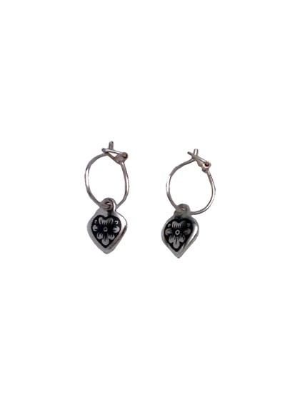 Серебряные серьги с черновым рисунком - фото 23229