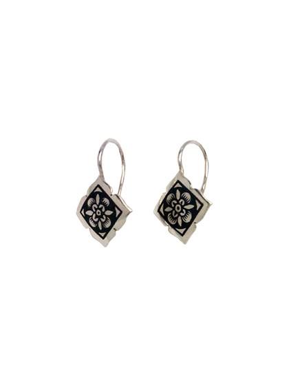 Серьги из серебра в черневом декоре - фото 23231
