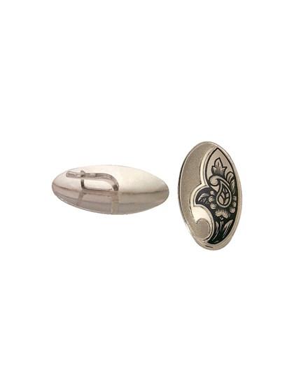 Серебряные серьги с черневым орнаментом - фото 23233