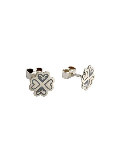 Серьги-гвоздики из серебра - фото 23280
